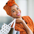 African shopper in shopping mall — Stock Photo #36379671