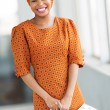 Stock Photo: African american female shopper