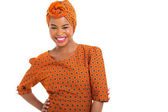 Afrikaanse vrouw in traditionele kleding — Stockfoto