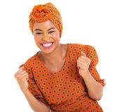 Excited african girl — Stock Photo