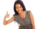 African girl giving thumb up — Stock Photo