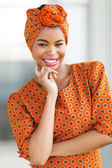 African american woman wearing traditional attire — Stock Photo