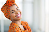 African woman wearing traditional attire — Stock Photo