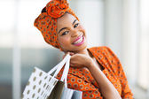 African shopper in shopping mall — Stock Photo