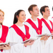 Stock Photo: Church choir singing
