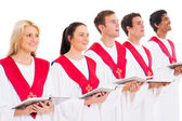 Church choir singing — Stock Photo