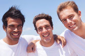 Group of guys outdoors — Stock Photo