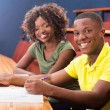 Stock Photo: Africcollege classmates