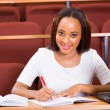 Student studying in lecture hall — Stock Photo