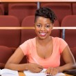 Student sitting in lecture hall — Stock Photo