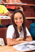 Beautiful african student — Stock Photo