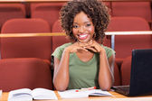 Cheerful african student — Stock Photo
