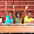 Students arms up — Stock Photo