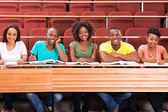 Happy african students — Stock Photo