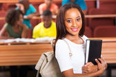 Beautiful student with book — Stock Photo