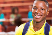 Male smiling student — Stock Photo