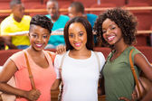 Female african college students — Stock Photo