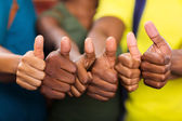 People thumbs up — Stock Photo