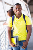 Handsome african college student — Stock Photo