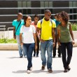 Students walking in campus — Stock Photo