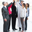 Business team giving high five — Stock Photo