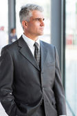 Thoughtful mature businessman — Stock Photo