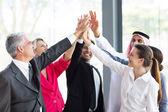 Businesspeople teambuilding — Stock Photo