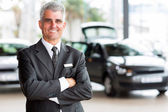 Senior car dealer principal — Stock Photo