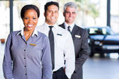Multiracial sales team — Stock Photo