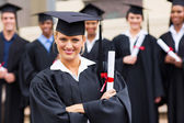 College graduate with arms crossed — Stock Photo