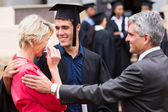 Proud mother with tears at graduation — Stock Photo