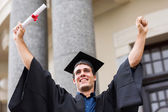 Successful university graduate — Stock Photo