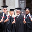 College graduates and professor — Stockfoto #42485343