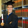 Handsome law school graduate — Stock Photo #42490579
