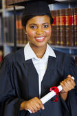 Gorgeous african graduate — Stock Photo