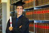 Handsome law school graduate — Stock Photo
