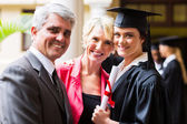College graduate with parents — Stock Photo
