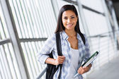 College girl on campus — Stock Photo