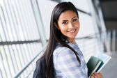 Pretty female college student — Stock Photo