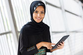 Arabian girl with tablet — Stock Photo