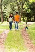 Family enjoying a walk at the park — Stock Photo