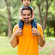 Father carrying son on his shoulders — Stock Photo #44311573
