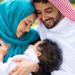 Middle eastern couple and baby boy — Stock Photo #44312311