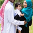 Happy islam family — Stock Photo