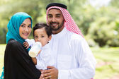 Traditional muslim family — Stock Photo