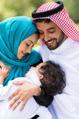 Middle eastern couple and baby boy — Stock Photo