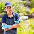 Pretty garden center worker — Stock Photo