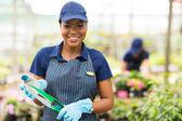 Young african gardener portrait — Stock Photo