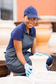 African american hardware business owner — Stock Photo