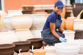 African female hardware store worker  — Stock Photo
